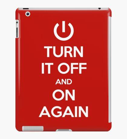 Keep Calm - Turn It Off and On Again iPad Case/Skin
