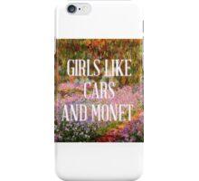 Girls Like Cars and Monet iPhone Case/Skin