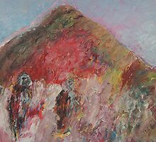 Mountain with Two Figures by Tim  Duncan