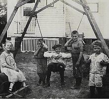 Five Kids Having Fun by Kenneth Hoffman