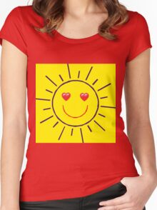 Happy Sunshine Love Women's Fitted Scoop T-Shirt