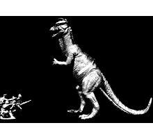 Dinosaur vs soldiers Photographic Print