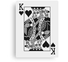 King of Hearts - Black Canvas Print