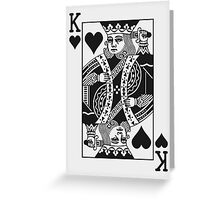 King of Hearts - Black Greeting Card