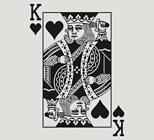 King of Hearts - Black Unisex T-Shirt