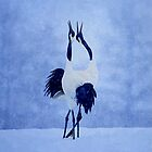 Red Crowned Crane by artstoreroom