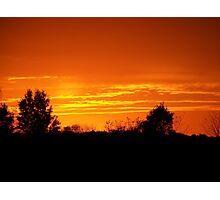 Orange Sunset over Warsaw, Indiana Photographic Print