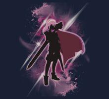 Super Smash Bros. Pink Lucina Silhouette Kids Tee