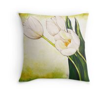 54. White Tulips Throw Pillow