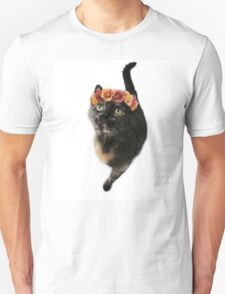 Flower Crown Puss Cat- Elsa Unisex T-Shirt