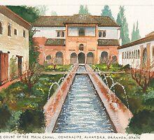 Generalife, Alhambra, Granada, Spain by Dai Wynn