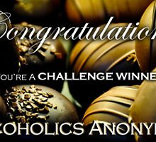 Chocoholics Anonymous Challenge Winner Banner by Susana Weber