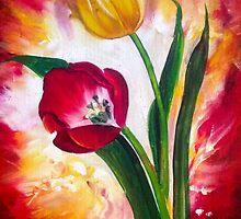 61. Tulips on Fire by mviljoenart
