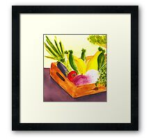 Saturday Market Framed Print