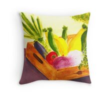 Saturday Market Throw Pillow