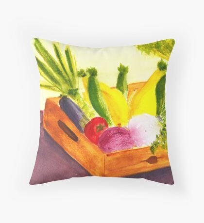 Saturday Market Throw Pillow