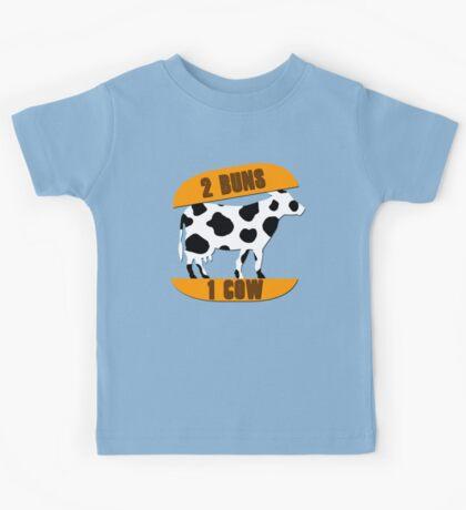 2 Buns, 1 Cow Kids Tee
