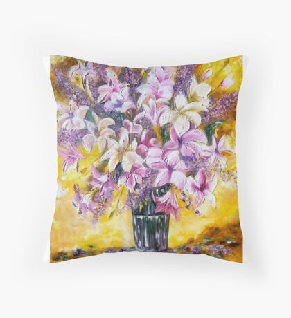 62. Lilies for Lola Throw Pillow