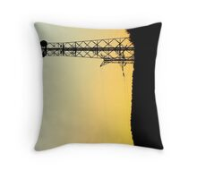 electricity as the sun sets Throw Pillow
