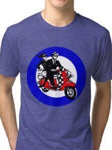 Ska Scooter Couple Target Tri-blend T-Shirt