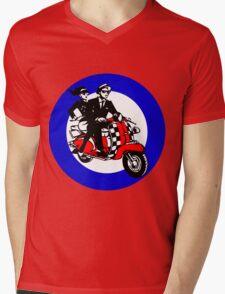 Ska Scooter Couple Target Mens V-Neck T-Shirt