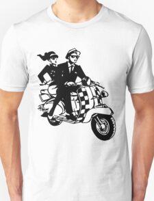 Ska Couple on Scooter Unisex T-Shirt