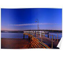 Baxters Jetty, Shorncliffe at first light. Brisbane, Queensland, Australia. (2) Poster