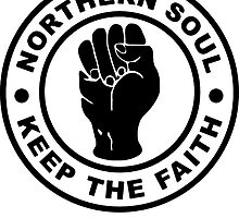 Northern Soul Keep The Faith Die Cut Sticker by ukedward
