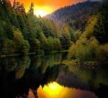 Green Peter Reservoir and Quartzville Creek by Charles & Patricia   Harkins ~ Picture Oregon