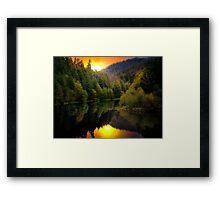 Green Peter Reservoir and Quartzville Creek Framed Print