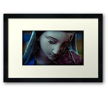 with spiders, madonna prays Framed Print