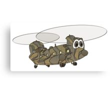 Chinook Military Helicopter Cartoon Canvas Print