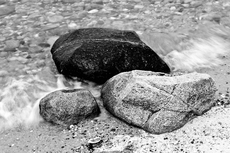 Rocks among the tide  by David Spector