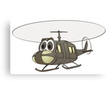 Huey Helicopter Cartoon Canvas Print