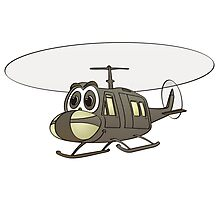 Huey Helicopter Cartoon Photographic Print