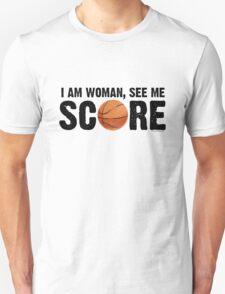See Me Score - Basketball Black Text T-Shirt