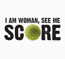See Me Score - Tennis Black Text by LTDesignStudio