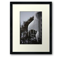 Snow and Ice at Falls Creek Framed Print