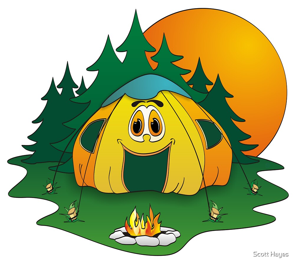 """""""Camping Tent Cartoon"""" by Graphxpro 