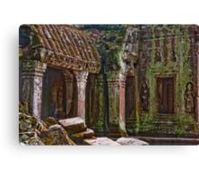 Angkor Thom Moss Canvas Print