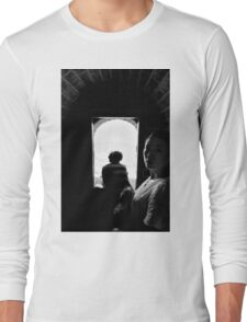 In the shadows - Great Wall of China Long Sleeve T-Shirt