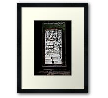 Peeking Through Framed Print