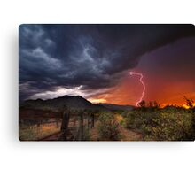 Sunset Strike Canvas Print