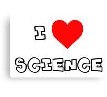 I Heart Science Canvas Print