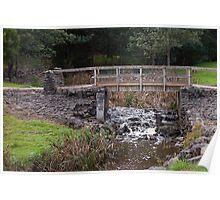 Footbridge across Kings Creek, Latrobe, Tasmania Poster
