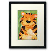 Kiddies Tiger Framed Print