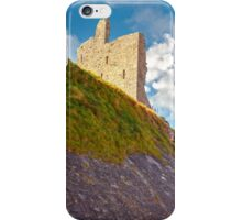 ballybunion castle with the cliff face iPhone Case/Skin