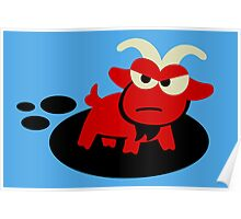 Tiny Hell Goat Poster