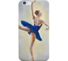 76. Blue Dress Dancers (Close-up Details No 2) iPhone Case/Skin