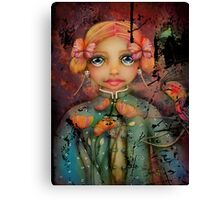 the poppy princess Canvas Print